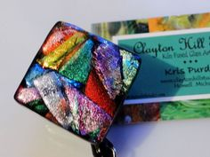 Dichroic color explosion badge reel!
