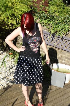 How to make an easy peasy A-line skirt