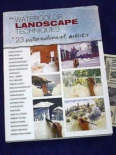 Watercolor Landscape Techniques of 23 International Artists Art Instruction Book Crafts:Art Supplies:Instruction Books & Media www.internetauctionservicesllc.com $34.50
