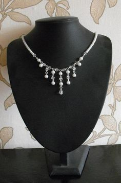 I've entered this necklace into the Art Beads Jewellery Design Star competition and the result depends on public votes. Beaded Jewelry Designs, Handmade Jewelry, Unique Jewelry, Crystal Necklace, Beaded Necklace, Bead Art, Jewelry Necklaces, Jewellery, Wedding Jewelry