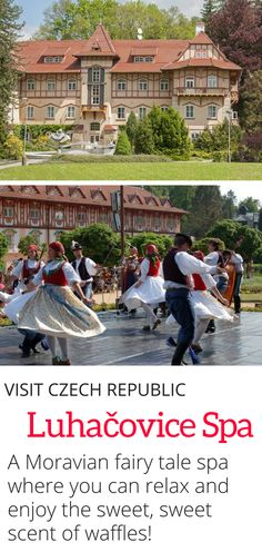 Visit Czech Republic - The Luhacovice Spa is a fairy tale spa located in the Moravian region of the Czech Republic. Enjoy enchanting buildings, mineral springs, and the intoxicating scent of freshly baked spa waffles. #Europe #spaday