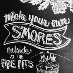 Cute idea for a beach wedding .... S | Custom Wedding Chalk Sign | S'mores Bar | Small Sign on Etsy