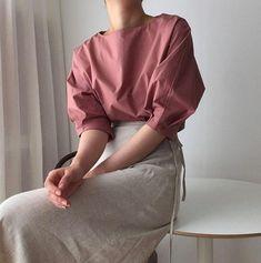 Cotton loose tunics for women / long sleeve tunic / Linen / Cotton / loose fit tunic / summer sleeve Minimal Outfit, Minimal Fashion, Hijab Fashion, Korean Fashion, Fashion Outfits, Classy Outfits, Casual Outfits, Look Boho, Kimono Dress