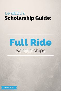 Need a Full Ride to your dream school?  We have you covered.