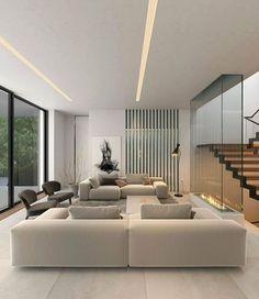Dream Home Design, Home Interior Design, Home Living Room, Living Room Designs, Modern Villa Design, Apartment Interior, Living Room Inspiration, Minimalist Home, Decoration