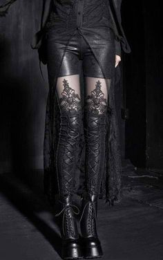 Oh my wow! I really like this - but probably swap the booths for a different pair. Macbeth tights