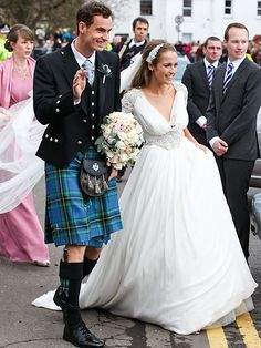 Andy Murray Marries Kim Sears in Scotland – See the Photos Andy Murray, Celebrity Engagement Rings, Celebrity Couples, Celebrity Weddings, Backstage Mode, Shapewear For Wedding Dress, Jenny Packham Wedding Dresses, Popular Wedding Dresses, Engagement Celebration