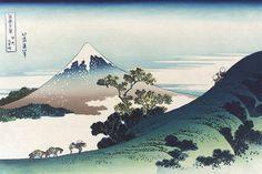 Inume Pass in the Kai Province, by Katsushika Hokusai