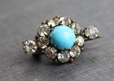 Victorian Persian Turquoise Paste Lace Pin by TheHiddenChamber, $48.00
