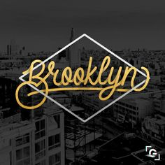 Brooklyn - Monoline Typography by Abhishek Goswami