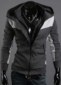 Wonderful Double Zip Design Color Split Cotton Sweats – teeteecee - fashion in style