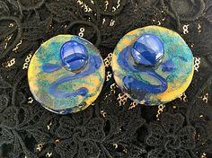 resin earringsFREE SHIPPING-resin jewelry-resin-handmade