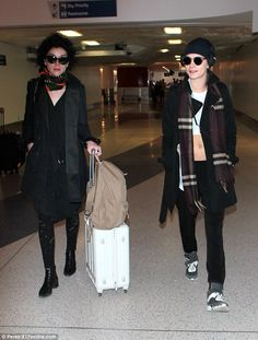 Recent outing: On Friday, the rumoured couple left Los Angeles International Airport together looking relaxed in each other's company