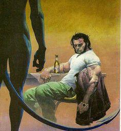 Noturno e Wolverine de Esad Ribic Comic Book Characters, Marvel Characters, Comic Books Art, Comic Art, Logan Wolverine, Comics Universe, Cultura Pop, Illustrations And Posters, Amazing Art