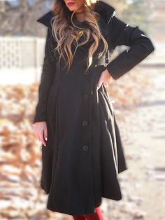 3007a38ce9c Black Irregular Woolen Coat Coats For Women