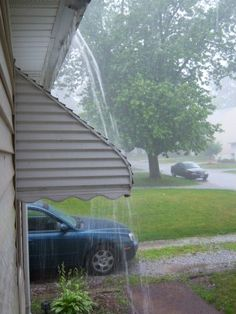 If this is your gutters when it rains ? click on pic to fix this NOW