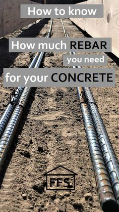 How to know how much rebar you need for your concrete. Prices, instructions, how to build your own house Concrete Projects, Concrete Patio, Outdoor Projects, Home Projects, Concrete Cover, Concrete Footings, Plan Garage, Garage Ideas, Concrete Prices