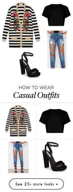 """""""Casual sass"""" by markie-krell on Polyvore featuring Gucci and Steve Madden"""
