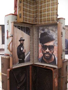 Love the idea of using the suit cases Return of the Rude Boy exhibition: Somerset House Thats Not My Age, Ozwald Boateng, Boy Fashion, Mens Fashion, Happy Eyes, Rude Boy, Somerset, Visual Merchandising, Curb Appeal