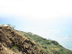 View of the coast from the top of Diamond Head