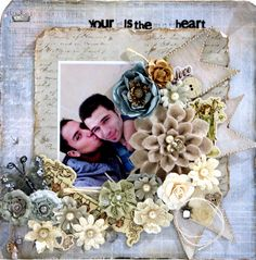 Awesome scrapbook layout by Frank Garcia http://magicscrapbook.blogspot.com/   Using the Nature Garden Collection by Jodie Lee for Prima Marketing.