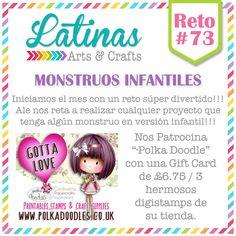Latinas Arts and Crafts: Reto 73 - Monstruos Infantiles