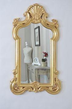 New Large Antique Gold Baroque Big Wall Mirror New 3ft11 x 2ft4 (120cm X 71cm)
