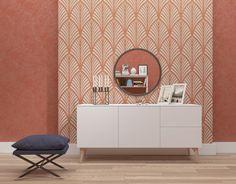 Decorative seamless wall stencil - Large stencil - Reusable decorative stencil