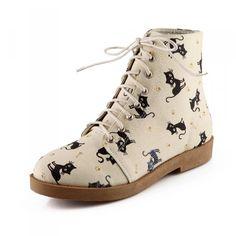 Cute cartoon cat boots SE8364  use code: ''Asija'' to get 10% OFF
