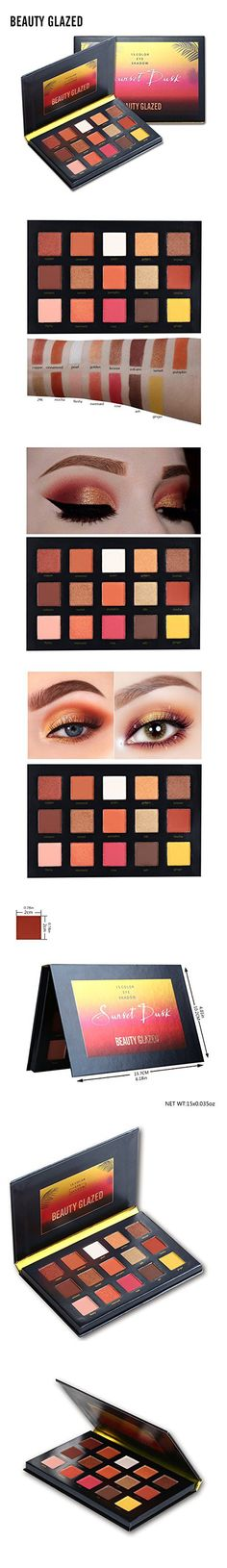 Beauty Glazed Sunset Dusk Eyeshadow Palette 15 Colors Long Lasting Eye Shadow Powder Make Up Waterproof Eye Shadow Palette Cosmetics