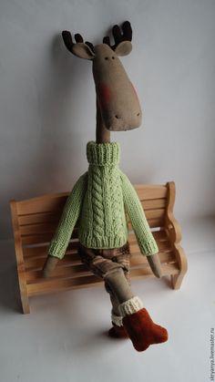 Купить Горячий финский парень - салатовый, лось, лось Тильда, лосик, игрушка ручной работы