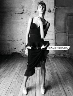 Ad Campaign: Balenciaga Spring/Summer 2013 Models: Kremi Otashliyska, Kristin Kragh Liljegren & Sam Rollinson Photographer: Steven Meisel