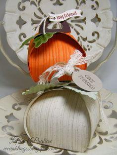 LeAnne Pugliese WeeInklings Paper Players 212 Curvy Keepsake Box Pumpkins - Stampin' Connection