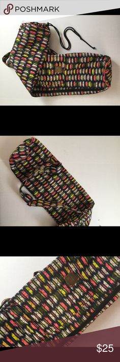 """Prana Bhakti Yoga Bag Sling Inside pocket stitching coming undone (very easy fix!), but bag is in excellent condition otherwise! Exterior zip pocket, full side zip, and drawstring top. 35x10"""". 100% cotton. Prana Bags Crossbody Bags"""