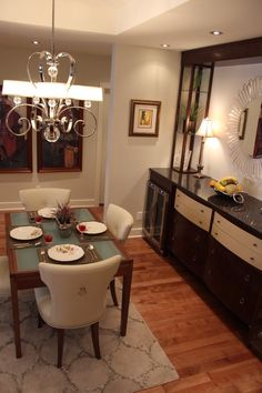 Feel like royalty in this beautiful dining room. Throw awesome parties with an adjacent mini bar or simply pour a glass for one for quiet night in. Make your dream dining room come true with SCD design & Construction!
