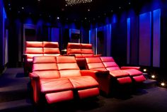Private Home Cinema - RPG Absorbers & RPG BAD panels used throughout the room #acoustics #panels #homecinema