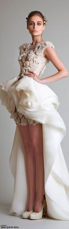 sassy reception dress || Krikor Jabotian Couture S/S 2014