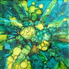 Alcohol ink explosion by Susan Lucas