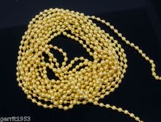 MK4389 bolletjesketting  2 meter Goud Verguld Gold Plated