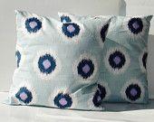 ikat dot pillows