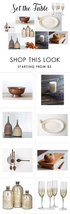 """""""Set the Table"""" by heartsabustin ❤ liked on Polyvore featuring interior, interiors, interior design, home, home decor, interior decorating, Home Decorators Collection, etsy, homedecor and setthetable"""