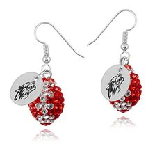 New Mexico Lobos Earrings *** Read more  at the image link. This is an affiliate link.