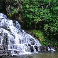 """The third of the #elephantwaterfalls with its #pristine streams adorning the rocks.  Elephant Falls was the British name of what the local #Khasi people once referred to as Ka Kshaid Lai Pateng Khohsiew (or """"Three Steps Waterfalls"""") since the falls actually consisted of three sections in succession. The British renamed the falls because there used to be a rock resembling an elephant near the left side of the main falls. However that rock was destroyed in an earthquake back in 1897…"""
