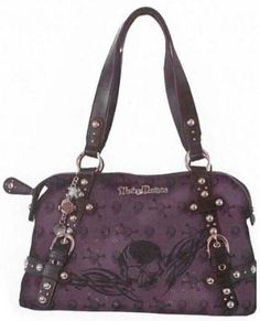 Harley-Davidson� Women's Jacquard Purple Satchel Bag Handbag Purse-LIMITED EDITION. Yarn-dyed Jacquard with Matte Leather Trim. SK5800J $109.95 Harley Davidson Purses, Harley Davidson Merchandise, Biker Accessories, Harley Gear, Biker Gear, Biker Chick, Satchel Purse, Purses And Handbags, Louis Vuitton Monogram