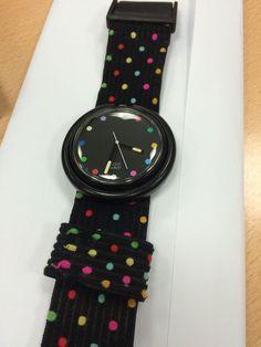 Vintage Pop Swatch 80s Polka Dot Retro Rare Watch in Jewellery & Watches, Watches, Wristwatches | eBay