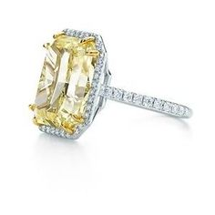 Tiffany canary yellow diamond engagement ring. *swoon*