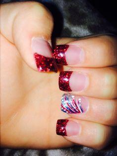 Trendy ideas for nails design summer shellac ring finger Nail Polish Designs, Nail Art Designs, Firework Nails, Patriotic Nails, Summer Toe Nails, Winter Nails, Spring Nails, 4th Of July Nails, July 4th Nails Designs