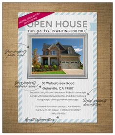 Real Estate | Open House Digital Invitations and greetings in my @pingg shop http://www.pingg.com/gallery/designer/kellie-medivitz-printablegirl