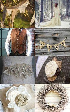 Winter wedding - a rustic vintage wedding