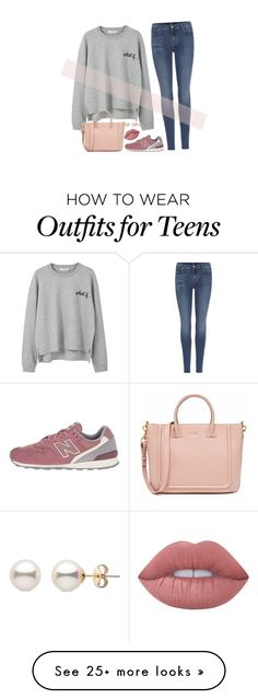 """""""saying goodbye to my teens / goals for my twenty something years.pt 1."""" by b-pearl on Polyvore featuring MANGO, 7 For All Mankind, New Balance Classics and Lime Crime"""
